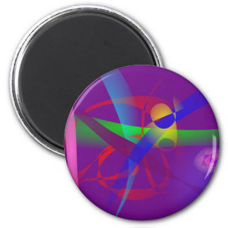 Purple Abstract Lines and Forms Refrigerator Magnets