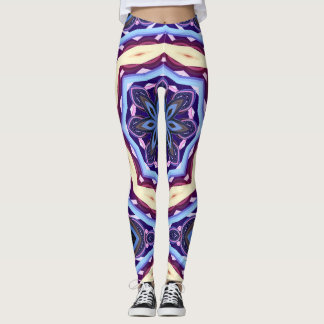 Purple Abstract Mandala Leggings