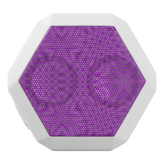Purple abstract pattern white boombot rex bluetooth speaker