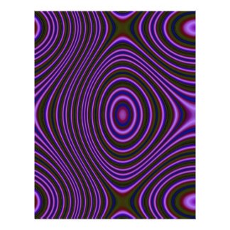 Purple abstract pattern personalized flyer