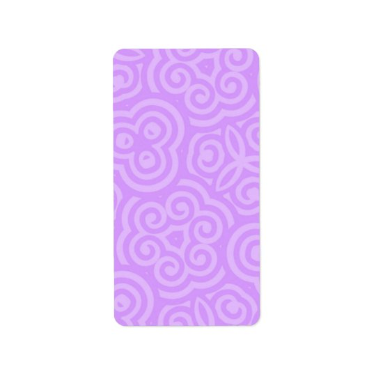 Purple Abstract Pattern Label