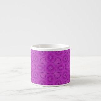 purple abstract pattern 6 oz ceramic espresso cup