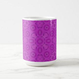 purple abstract pattern mug