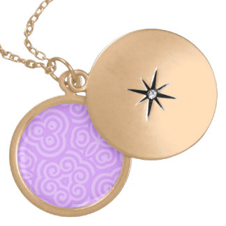Purple Abstract Pattern Necklace
