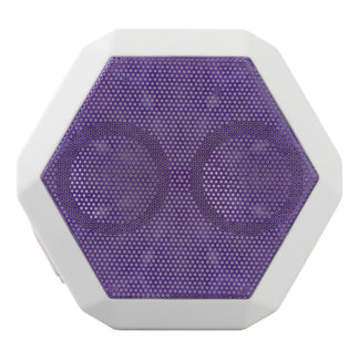 Purple abstract pattern of wood white boombot rex bluetooth speaker