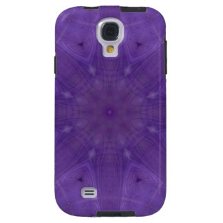 Purple abstract pattern of wood galaxy s4 case