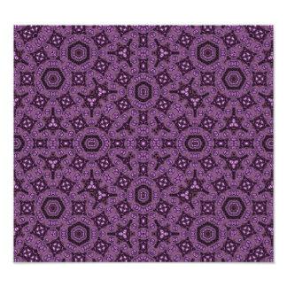 Purple abstract pattern photo print
