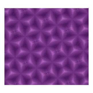Purple Abstract Pattern Poster