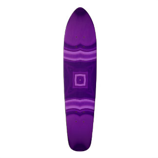 Purple abstract pattern skate boards