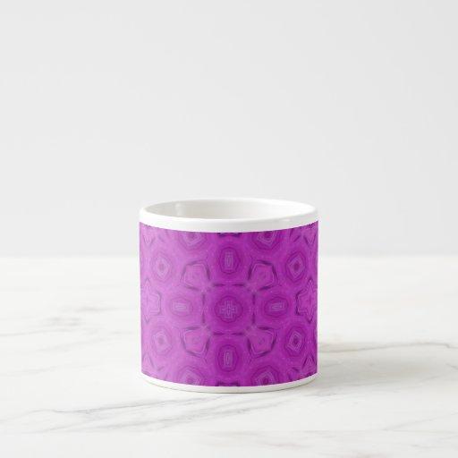 purple abstract pattern espresso mugs