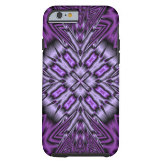 Purple abstract pattern tough iPhone 6 case