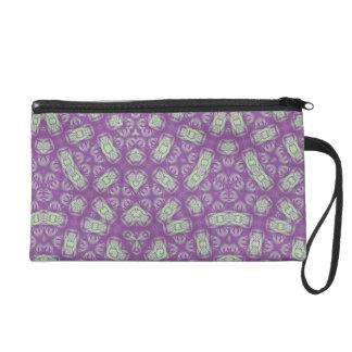 Purple Abstract Pattern Wristlet Purses