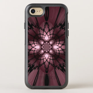 Purple Abstract Plum Black Web Optical Illusion OtterBox Symmetry iPhone 7 Case