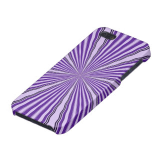 Purple Abstract Rays on iphone case iPhone 5 Covers
