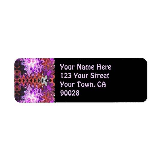 purple abstract return address label