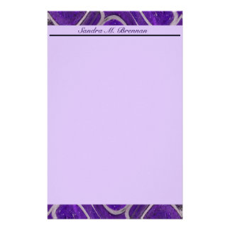 purple abstract stationery