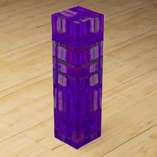 Purple Abstract Wine Bottle Boxes