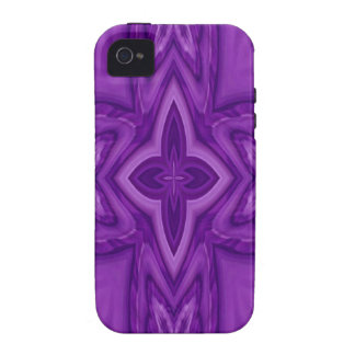 Purple abstract wood cross Case-Mate iPhone 4 cover