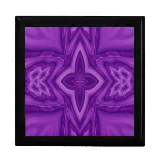 Purple abstract wood cross gift box