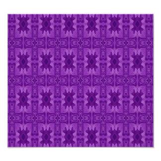 Purple abstract wood cross photo print