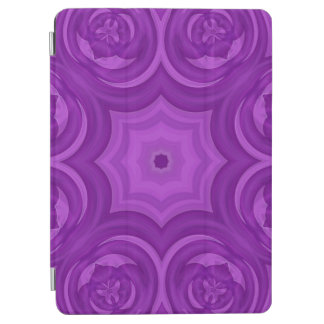 Purple abstract wood pattern iPad air cover