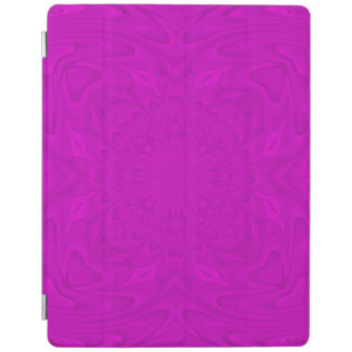 Purple abstract wood pattern iPad cover