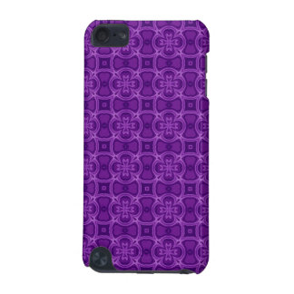 Purple abstract wood pattern iPod touch (5th generation) case