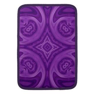 Purple abstract wood pattern MacBook sleeve