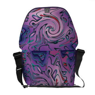 Purple abstraction messenger bag
