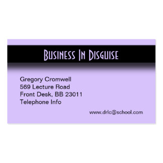 Purple Accent Pack Of Standard Business Cards