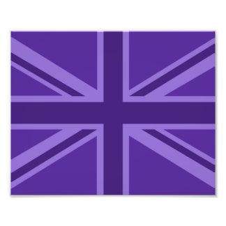 Purple Accent Union Jack Decor Photograph