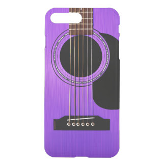Purple Acoustic Guitar iPhone 7 Plus Case