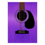 Purple Acoustic Guitar Poster