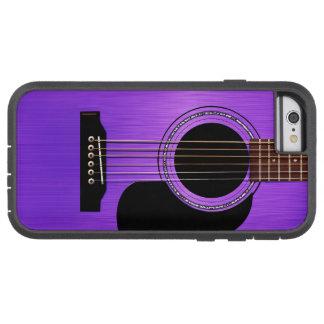 Purple Acoustic Guitar Tough Xtreme iPhone 6 Case