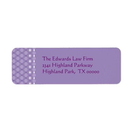 Purple Address Labels