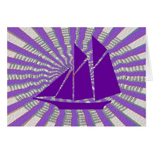 Purple Adventure Sail to Antartica Greeting Cards