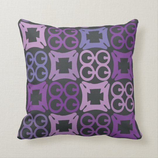 Purple African Adinkra print pillow