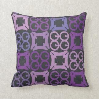 Purple African Adinkra print pillow