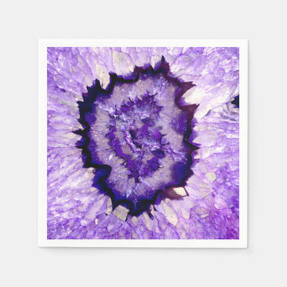 Purple agate disposable napkin