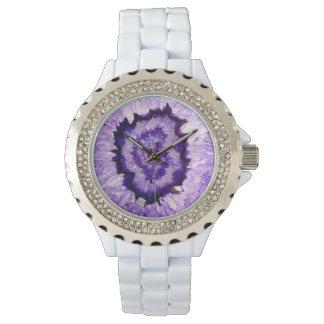 Purple agate wrist watches