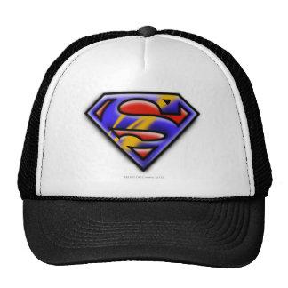 Purple Airbrush Superman Logo Hats