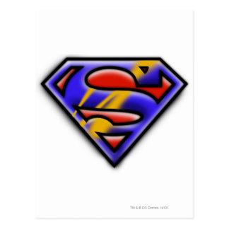 Purple Airbrush Superman Logo Post Card