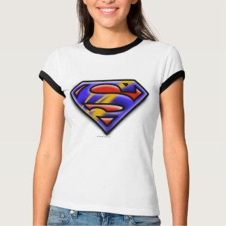 Purple Airbrush Superman Logo T Shirt
