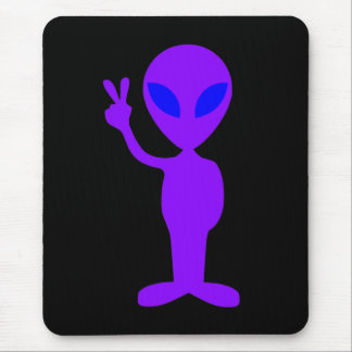 Purple Alien Mouse Mat