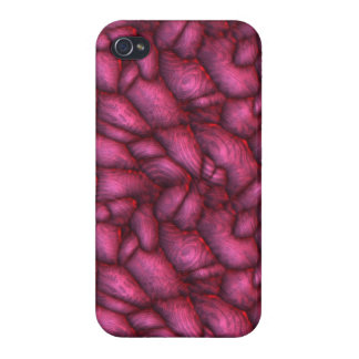Purple alien stones abstract texture iPhone 4/4S cover