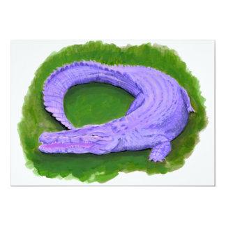 Purple alligator / Florida crocodile Egypt animal Card
