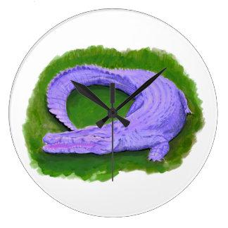 Purple alligator / Florida crocodile Egypt animal Large Clock