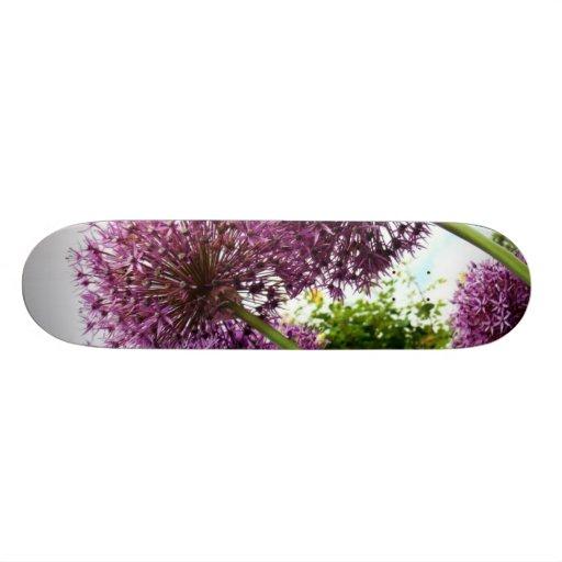 Purple Allium Custom Skateboard