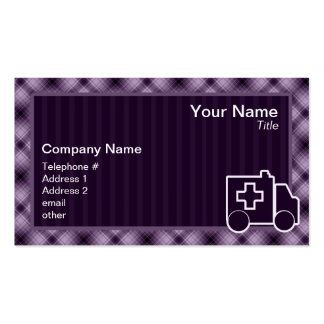 Purple Ambulance Pack Of Standard Business Cards