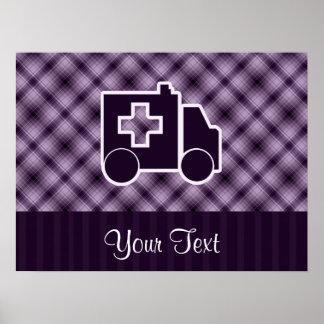 Purple Ambulance Poster